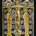 French, Limoges, 1210-1220, Book cover with <b>the</b> <b>Crucifixion</b>
