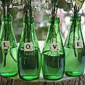Petits vases à message jolis ! {idée de diy / cadeau pour la fête des pères, fête des mères, la maîtresse d'école etc. }