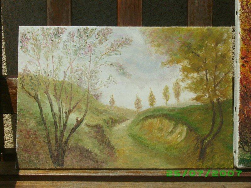 paysage dernière peinture au pinceau