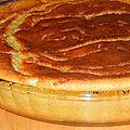Clafoutis à la crème d'amandes et abricots caramélisés