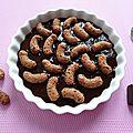 Crème dessert allégée chocolat cacahuète au konjac et aux croc' cacao natine à 100 kcal (diététique, sans oeuf, riche en fibres)