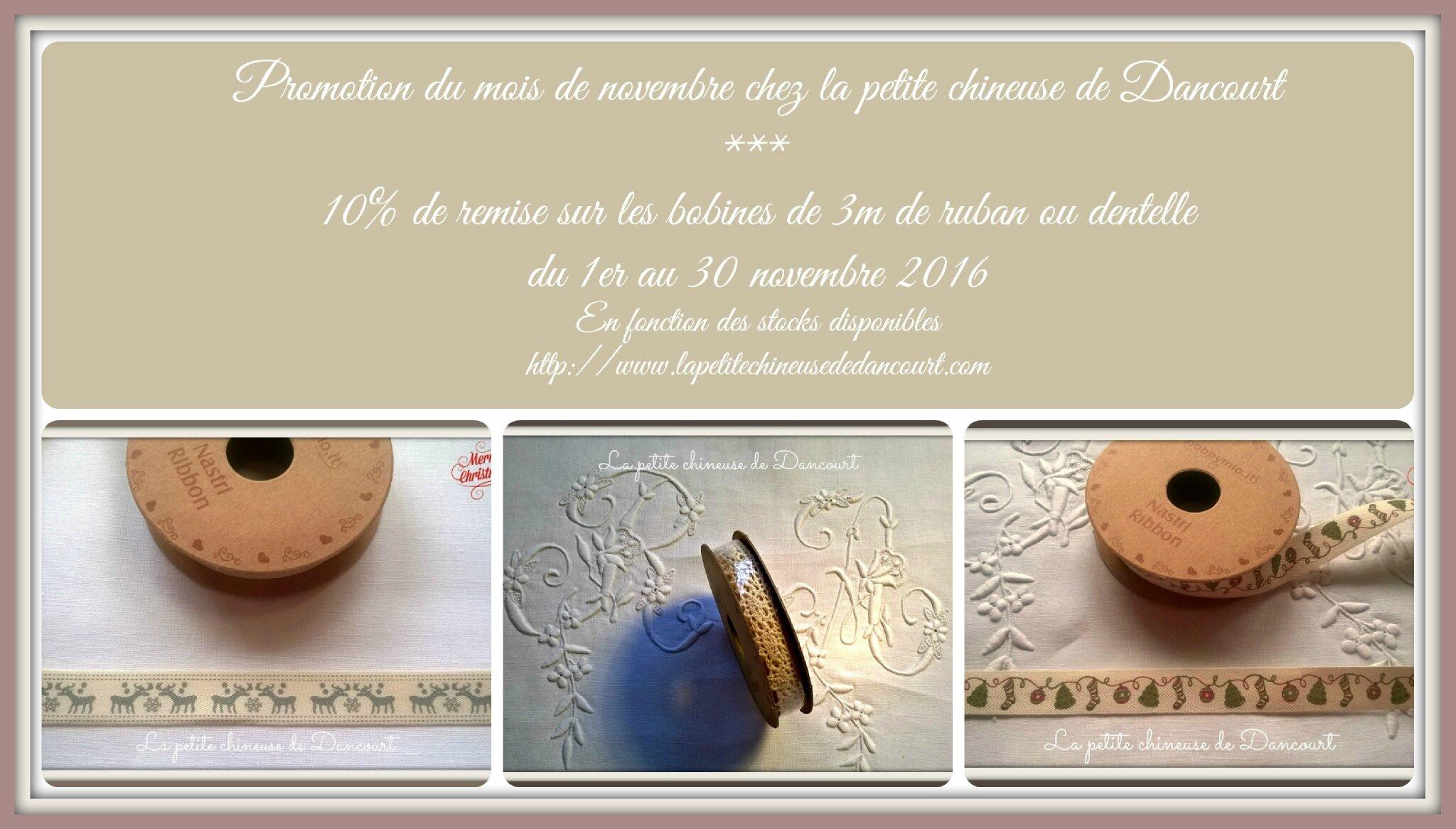 Promotion du mois de novembre chez la petite chineuse de Dancourt