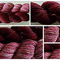 laine rose et rouge