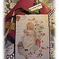 Plaque métallique vintage offerte par ma Tite Valou pour Noël * 2012