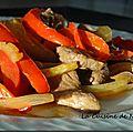 Boeuf sauté au fenouil et au poivron rouge