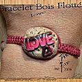BRACELET LOVE BOIS FLOTTé