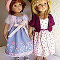 Charlotte et emily : me deux nouvelles little darling peintes par lana dobbs