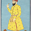 A large portrait of Umar Sheikh Mirza of Ferghana, India, Deccan, probably Golconda, circa <b>1700</b>
