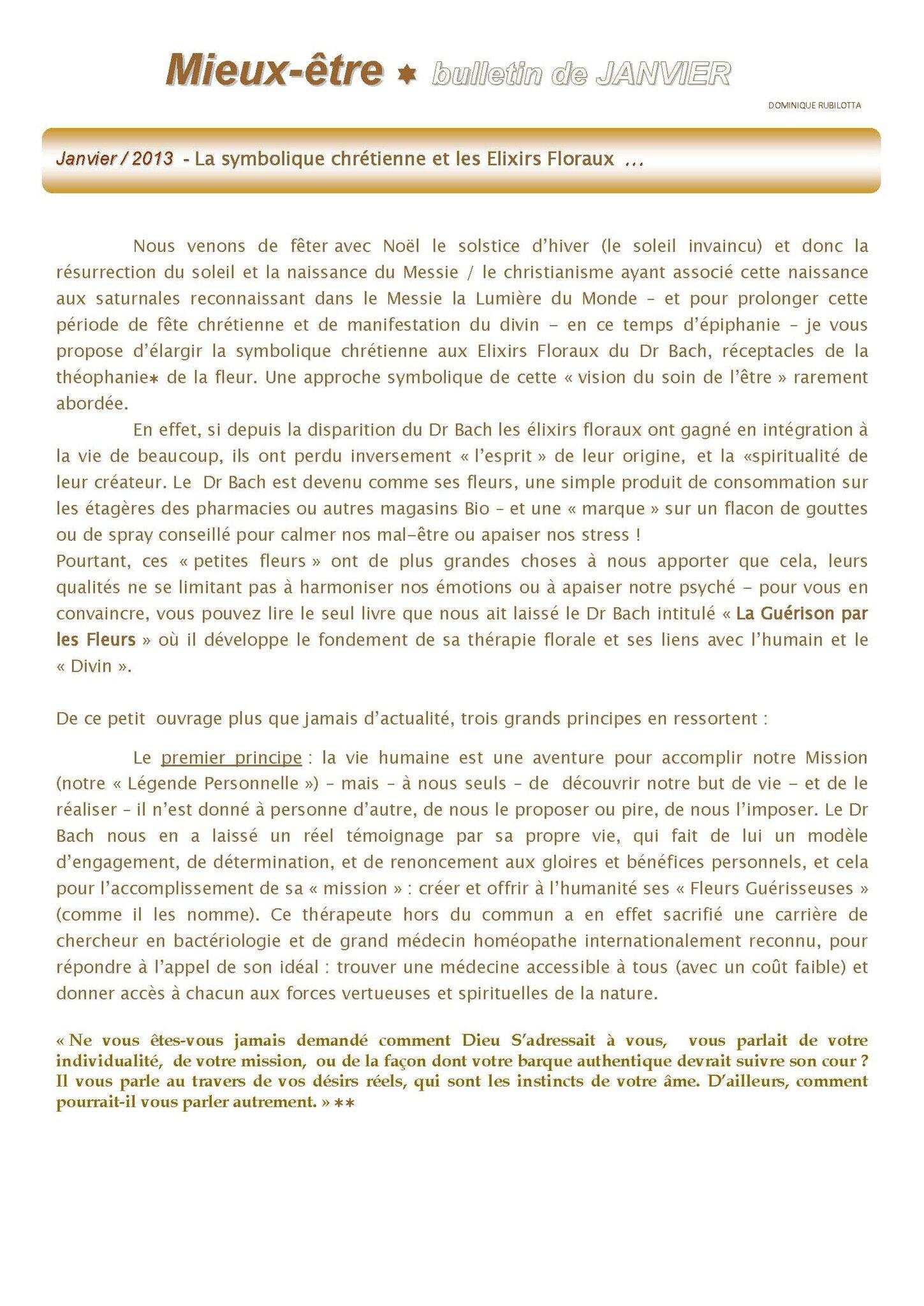 La symbolique chrétienne et les élixirs floraux / article de Dominique / Conseiller agréé Fleurs de Bach (13)