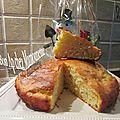 Gâteau à la clémentine miellé, au fromage blanc et à la poudre d'amande