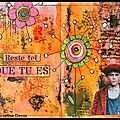 Art journal mixed média