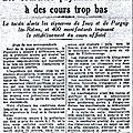 1932 11 octobre : vendanges agitées…