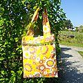 Mon sac à fleurs et pompons