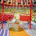 tapis de lirette dans la yourte