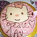 Gateau d'anniversaire hello kitty