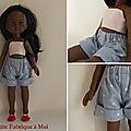 [vêtement de poupées n°6] la première tenue de cécile