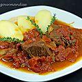 Mijoté de bœuf à la tomate et aux oignons