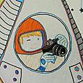 Ma broderie alain grée : un jour je serais cosmonaute