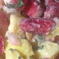 Salade de pommes de terre nouvelles et radis de jamie oliver.