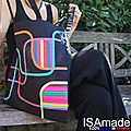 Le Tote bag coloré original 100%made in France : une fabrication <b>locale</b> ISAmade.