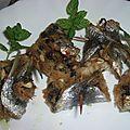 Rouleaux de sardines sucré salé-petits plaisirs de montalbano