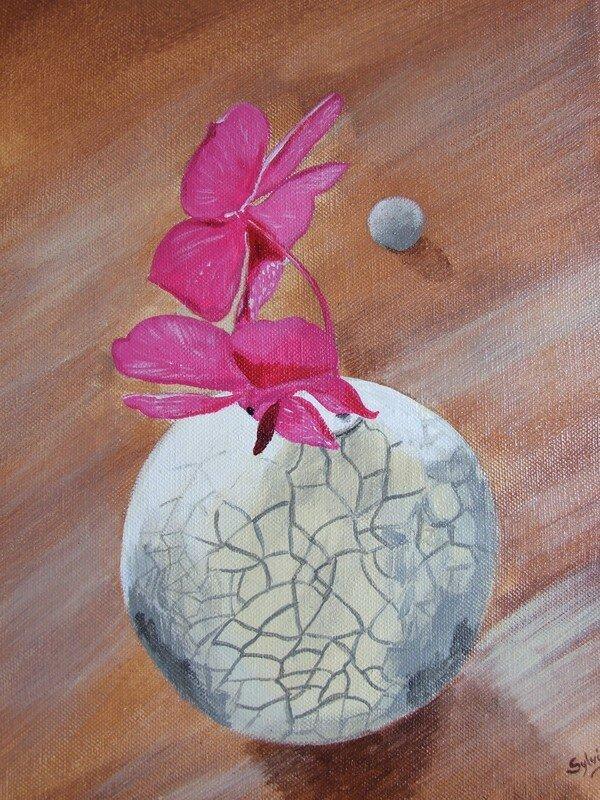 vase à l'acrylique