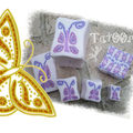 Cane papillon mosaique