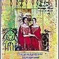 Art journal stencils et distress oxide