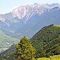 La vallée de la Berthe et le cirque d'Aulet.