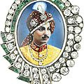 A diamond and emerald pendant depicting an indian prince, france for the export market, circa 1930