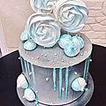 layer cake argenté