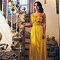<b>Caftan</b> marocain <b>jaune</b> moderne