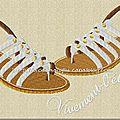 Vivement l'été et ses sandales !! 5 motifs pour la couleur :-)