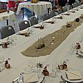 <b>Baptême</b> <b>thème</b> <b>Pirate</b> : La table et la salle