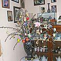 Bouquet de table et arbre de pâques