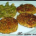 Galette de pois chiche et petits pois carottes (recette maison)