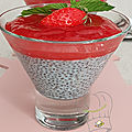 Crème de chia et compotée de fraise