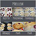 Moelleux ricotta/mascarpone aux framboises