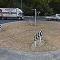 Rond-point à Tamahere (Nouvelle-Zélande)