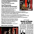 2005 Les Physiciens de Friedrich Dürrenmatt.