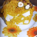 Cake au poulet et au curcuma