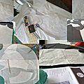 La blouse laelia avec son col claudine et son passepoil liberty