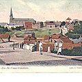 Pâturages - Rue de l'église - carte postale