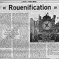 Reunification ou rouenification? face au poison de ouest france la lucidité de paris normandie !