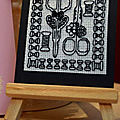Suite de l'<b>échange</b> ATC blackwork !
