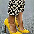 Le <b>jaune</b> en mode !