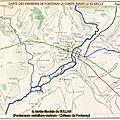 Carte des environs de Fontenay le Comte avant le Xe siècle - Motte féodale du RULLAN