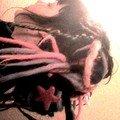 Maggle . Dreads de ma confection + dreads de javelmoche . Brune , rose flash , magenta , rose bébé , bleu bébé , lilas et blonde .