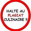 Charte de publication des blogueurs halte au plagiat culinaire !