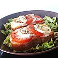 Minis bruschettas ☼ tomate - chèvre - basilic ☼